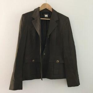 Jones New York 100% silk Jacket Blazer button down
